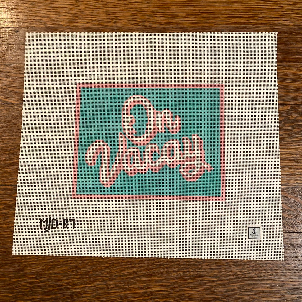 On Vacay Canvas-Needlepoint Canvas-KC Needlepoint