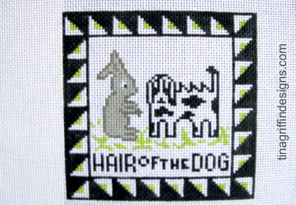 Hair of the Dog Needlepoint Canvas-Needlepoint Canvas-Tina Griffin Designs-KC Needlepoint