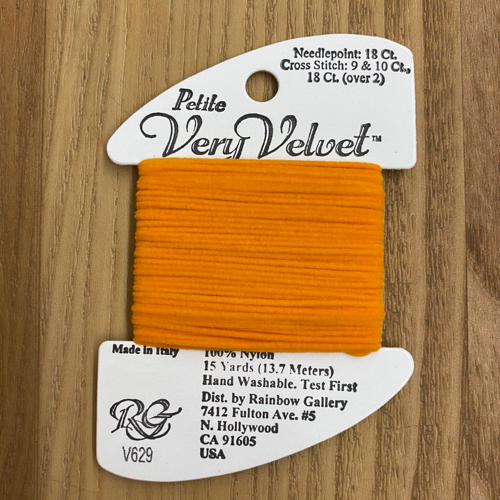 Petite Very Velvet V629 Orange - KC Needlepoint