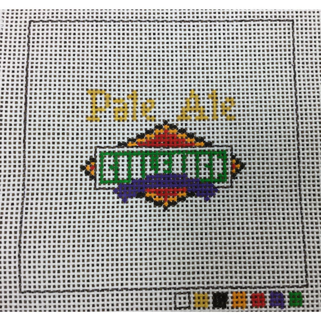 Pale Ale Beer Coaster Canvas-Needlepoint Canvas-Local Artist-13 mesh-KC Needlepoint