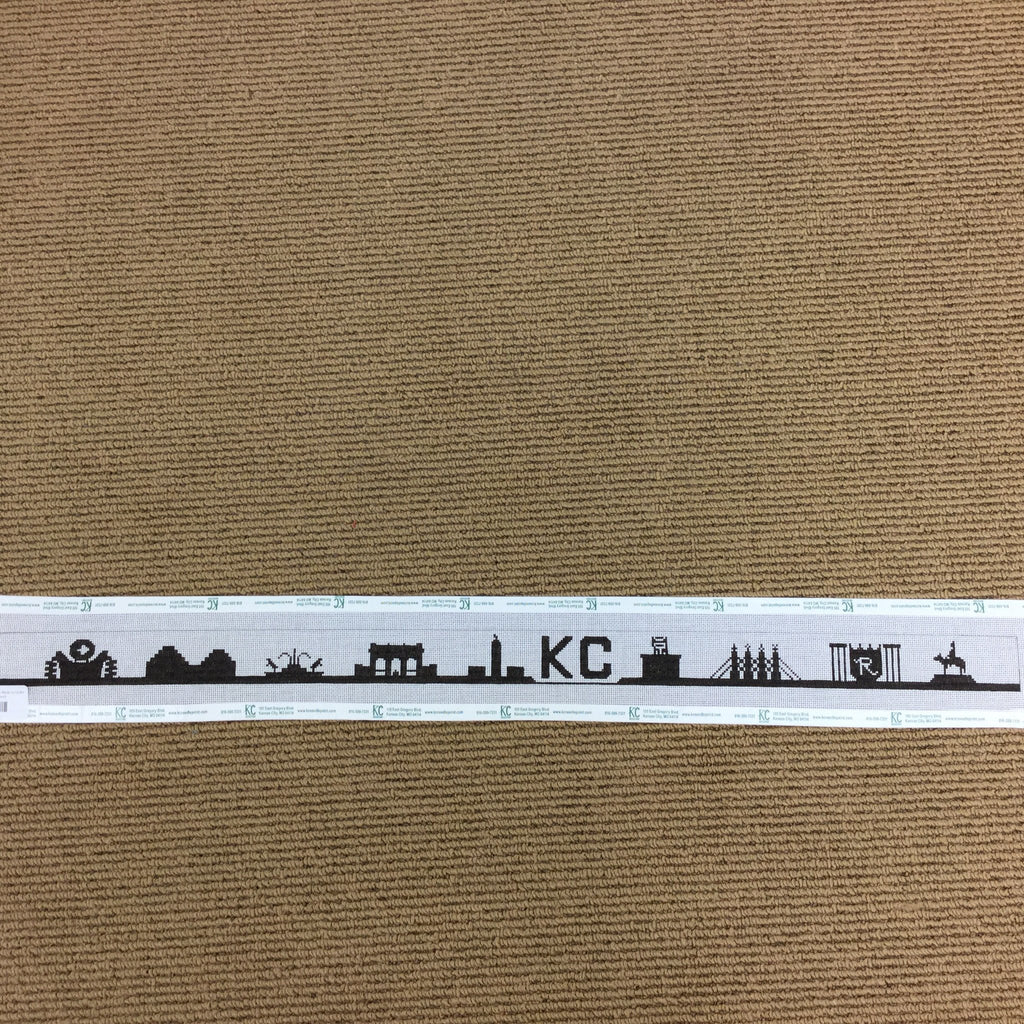 #1 KC Skyline Belt Canvas Made to Order - needlepoint