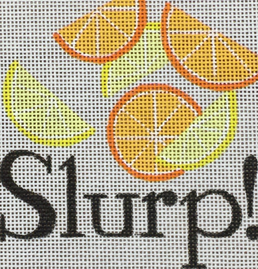 Slurp Needlepoint Canvas-Needlepoint Canvas-Raymond Crawford-KC Needlepoint
