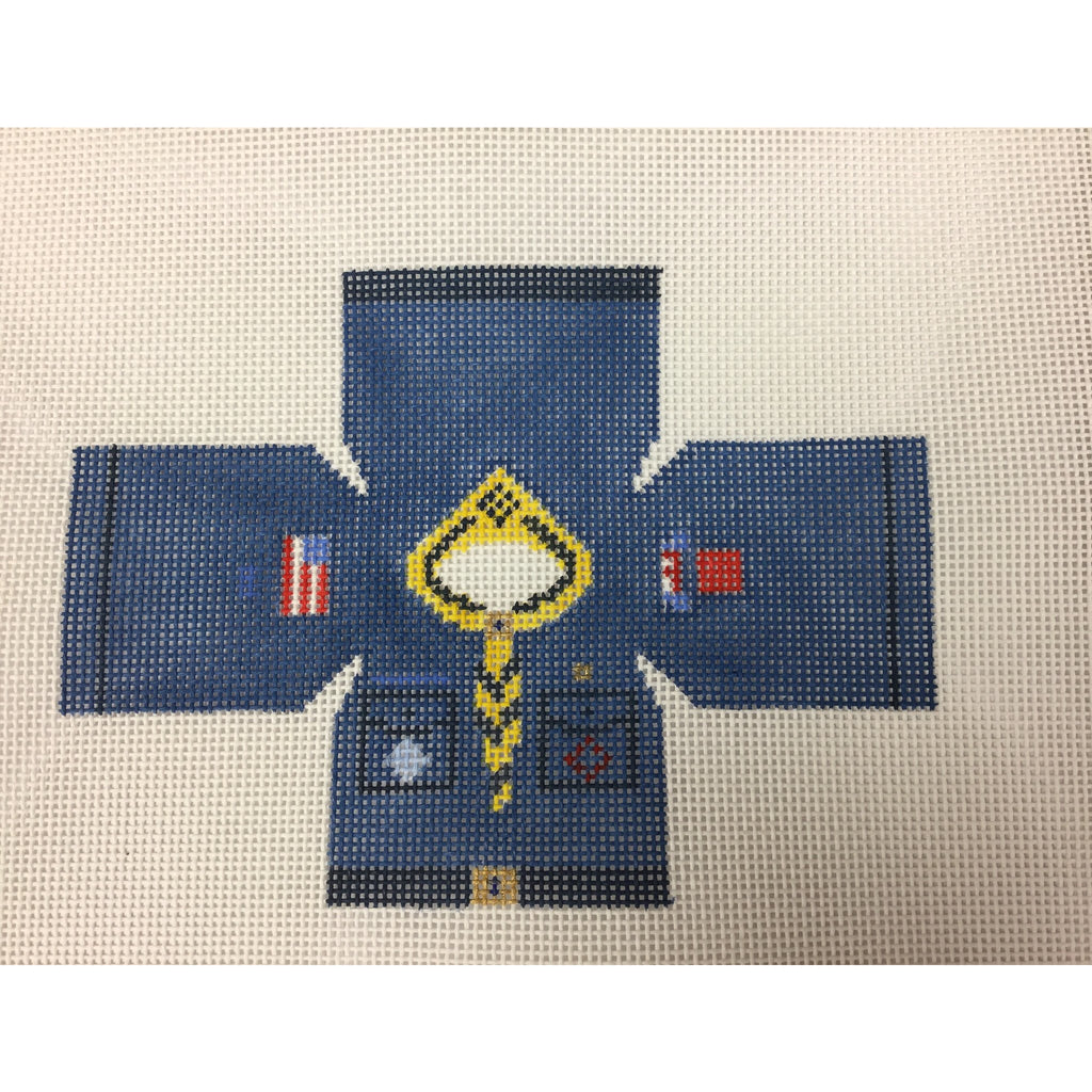 Cub Scout Topper Canvas-Needlepoint Canvas-Studio Midwest-13 mesh-KC Needlepoint