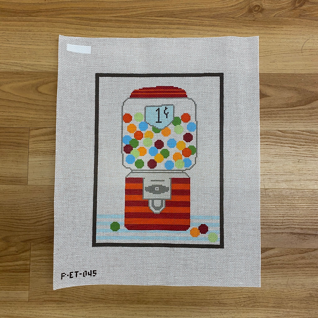 Gumball Machine Canvas - needlepoint