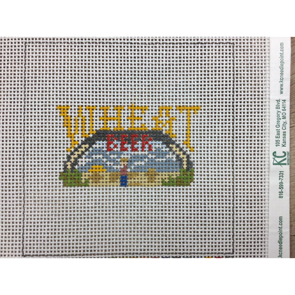 Boulevard Wheat Beer Canvas-Needlepoint Canvas-Local Artist-13 mesh-KC Needlepoint