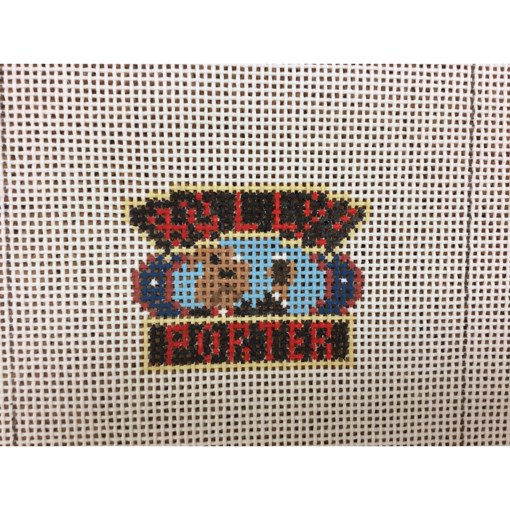 Bully Porter Beer Canvas - needlepoint