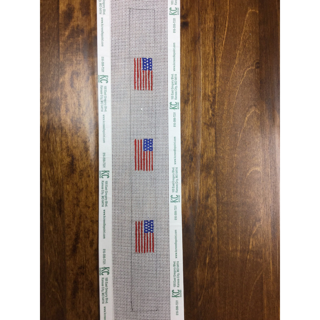 American Flags Croakies Canvas-Needlepoint Canvas-Local Artist-18 mesh-KC Needlepoint