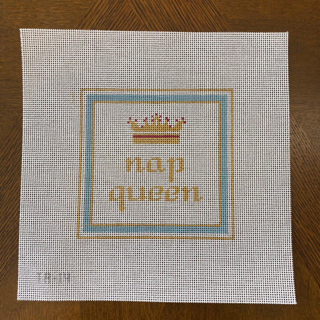Nap Queen Needlepoint Canvas - needlepoint