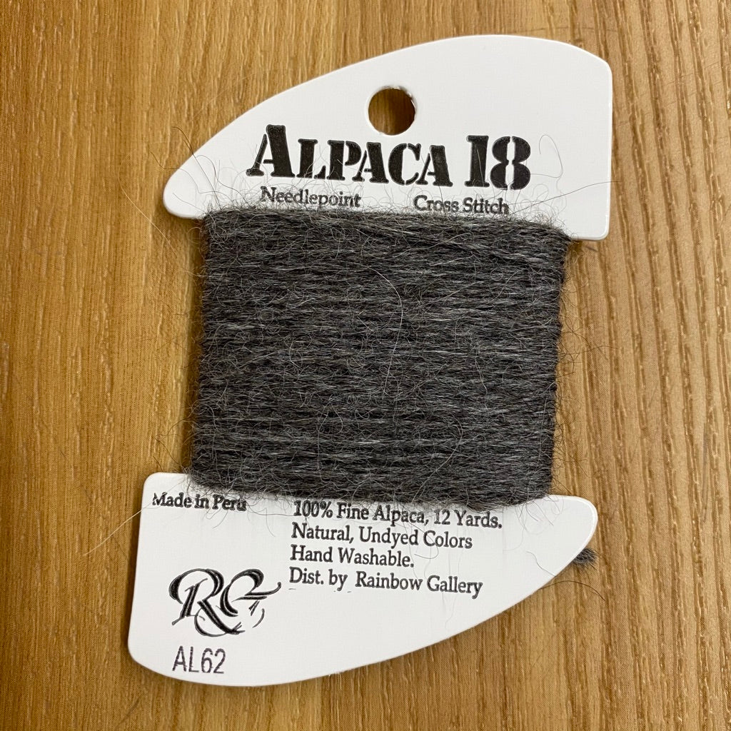Alpaca 18 AL62 Dark Gray - KC Needlepoint