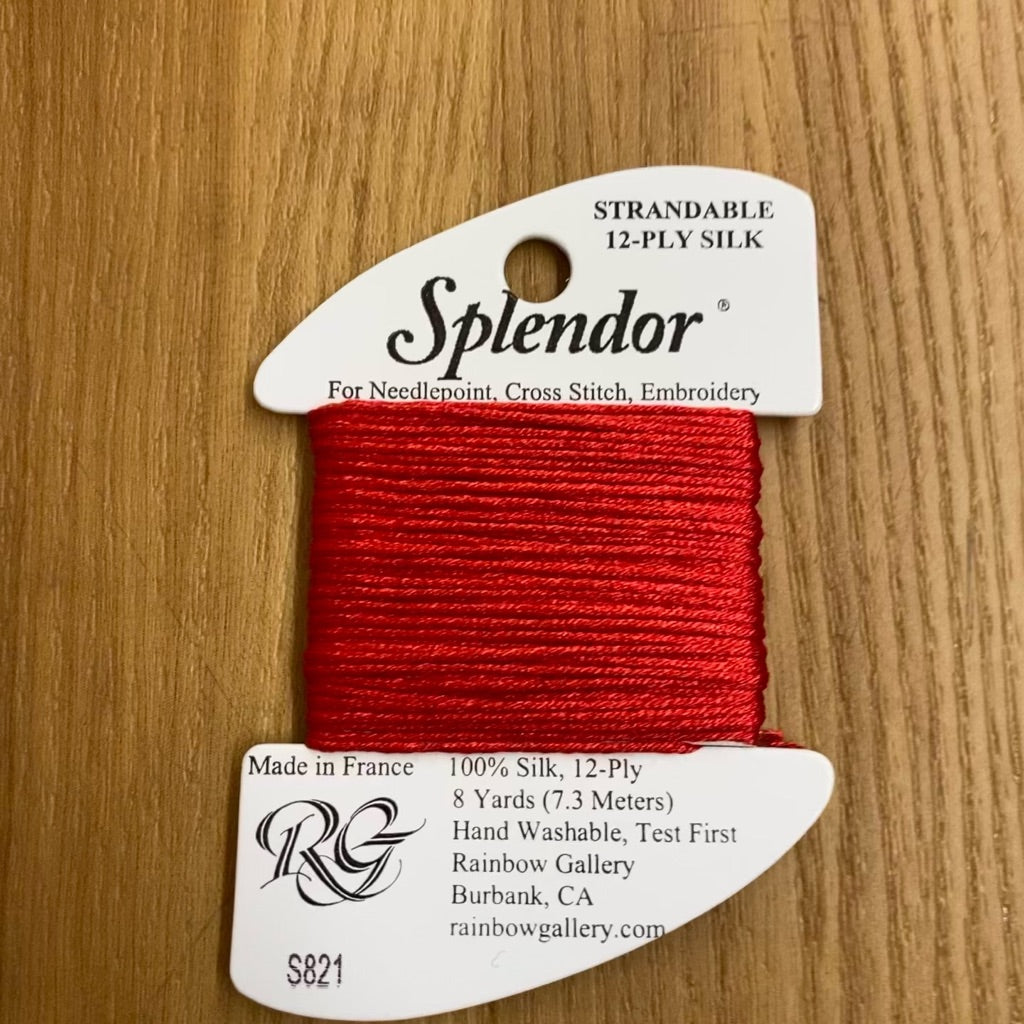 Splendor S821 Medium Red - KC Needlepoint