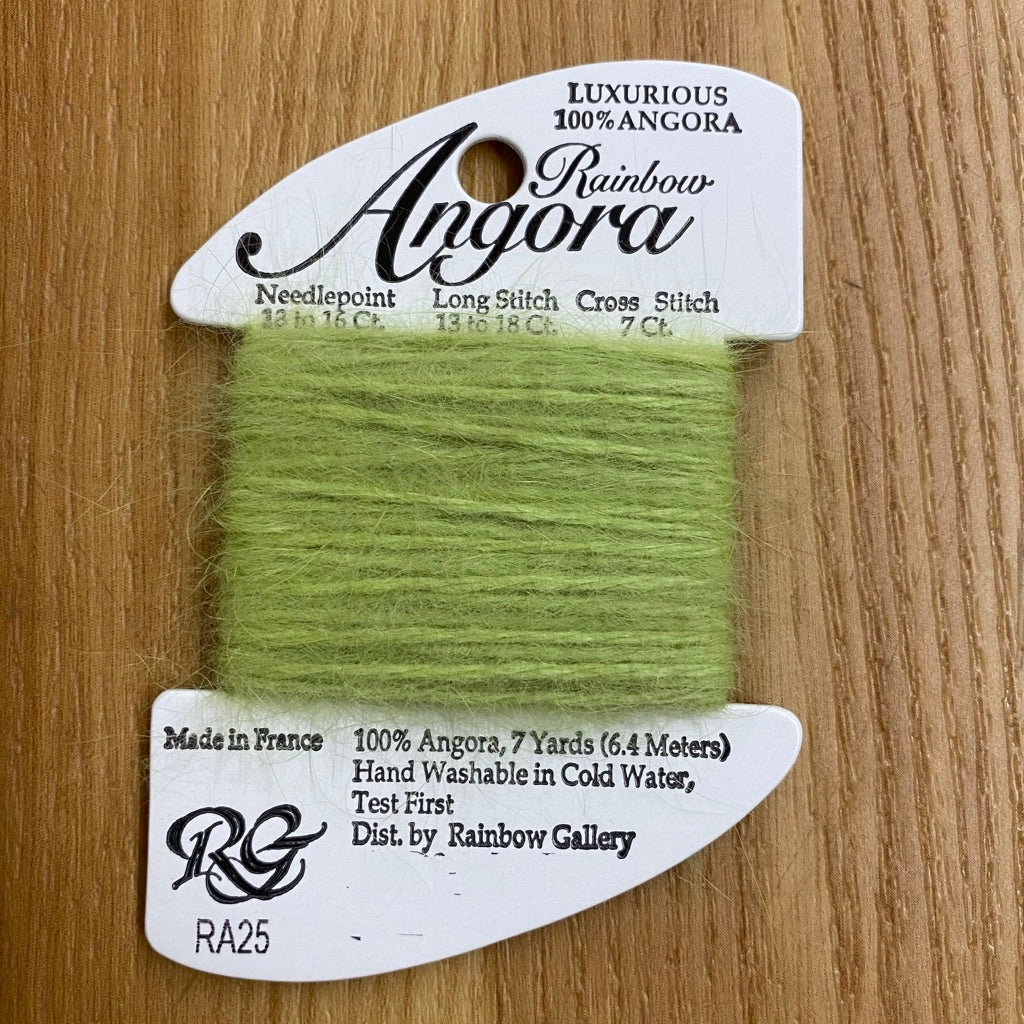 Rainbow Angora RA25 Wild Lime - needlepoint