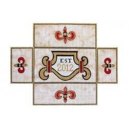 EST. 2012 Brick Cover - needlepoint