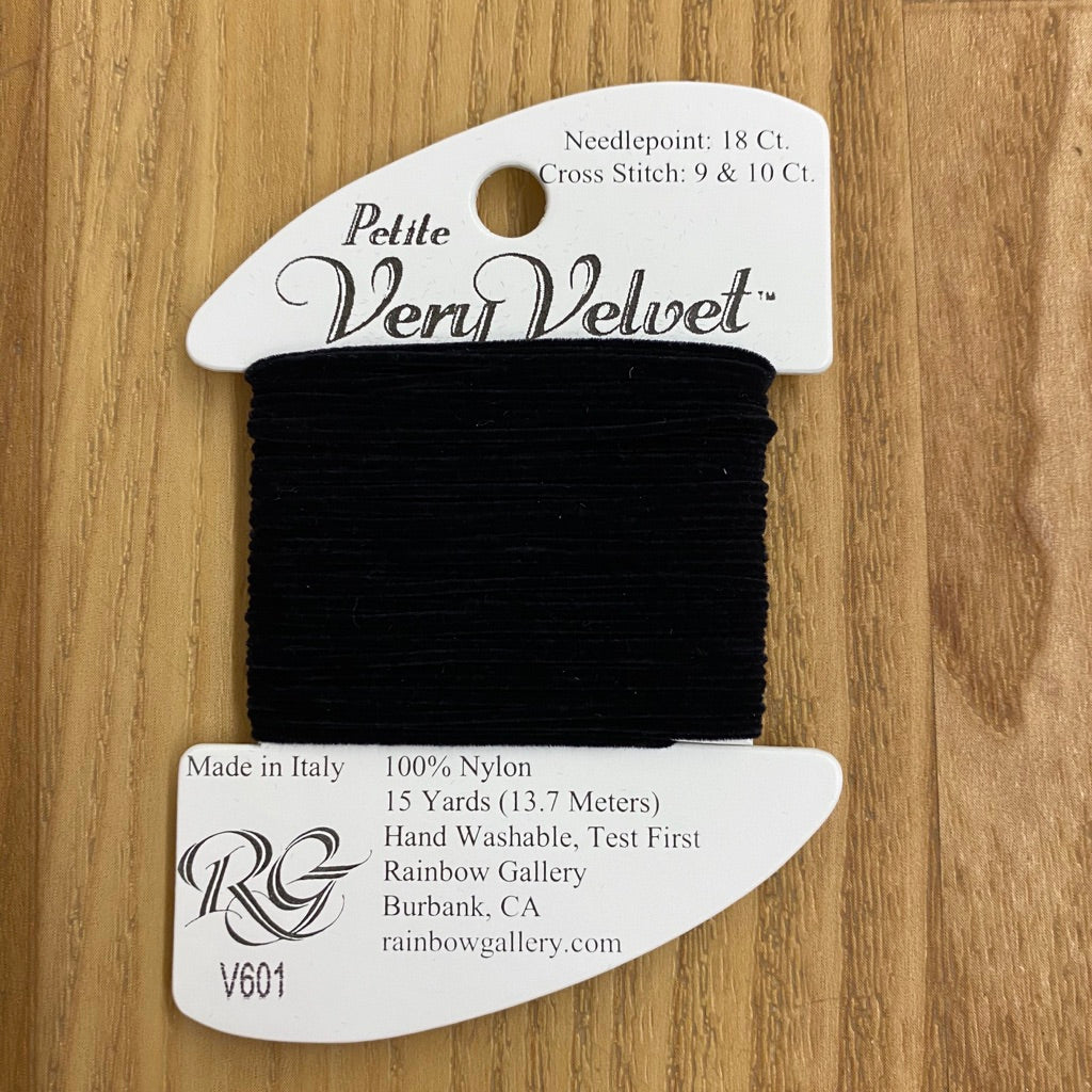 Petite Very Velvet V601 Black - KC Needlepoint