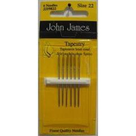 John James #22 Tapestry Needles - needlepoint
