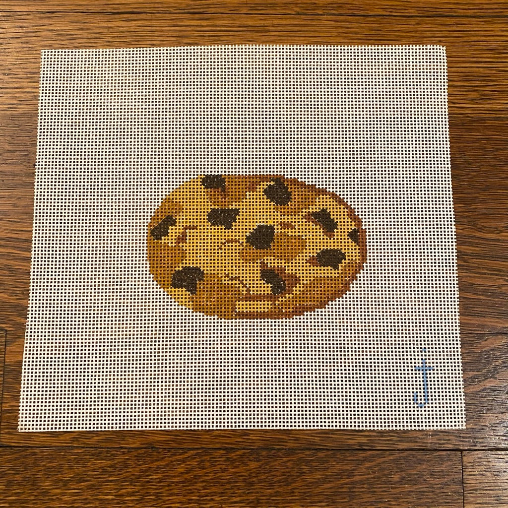 Chocolate Chip Cookie Canvas - needlepoint