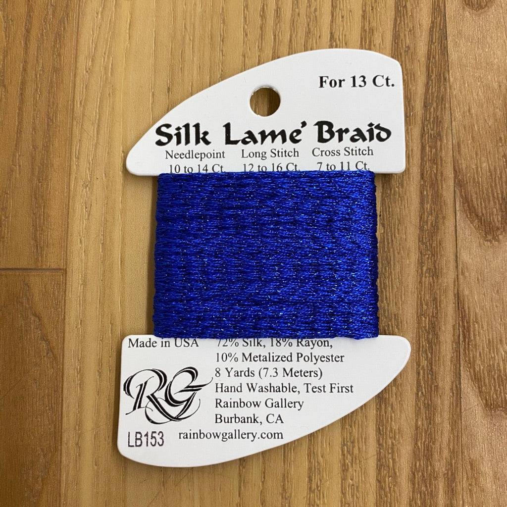 Silk Lamé Braid LB153 Classic Blue 2-Silk Lamé Braid-KC Needlepoint