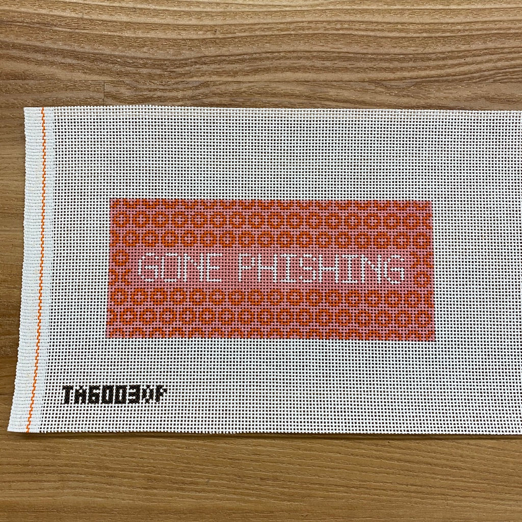 Gone Phishing Eyeglass Case Canvas - needlepoint