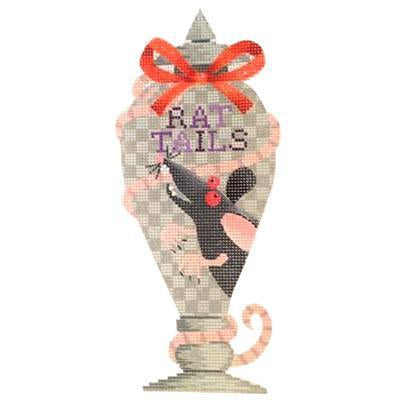 Rat Tails Halloween Bottle Canvas