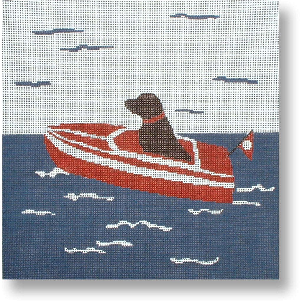 Sea Dog Canvas - needlepoint