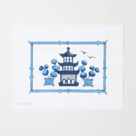 Indigo Home Pagoda Canvas