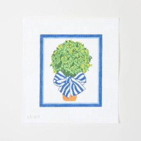 Topiary Canvas - needlepoint