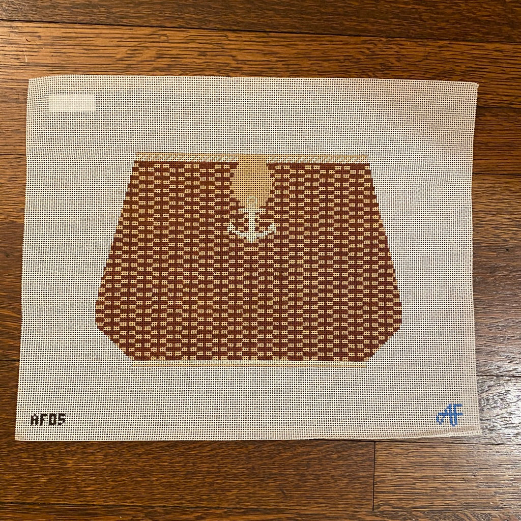 Large Nantucket Purse with Anchor-Needlepoint Canvas-KC Needlepoint