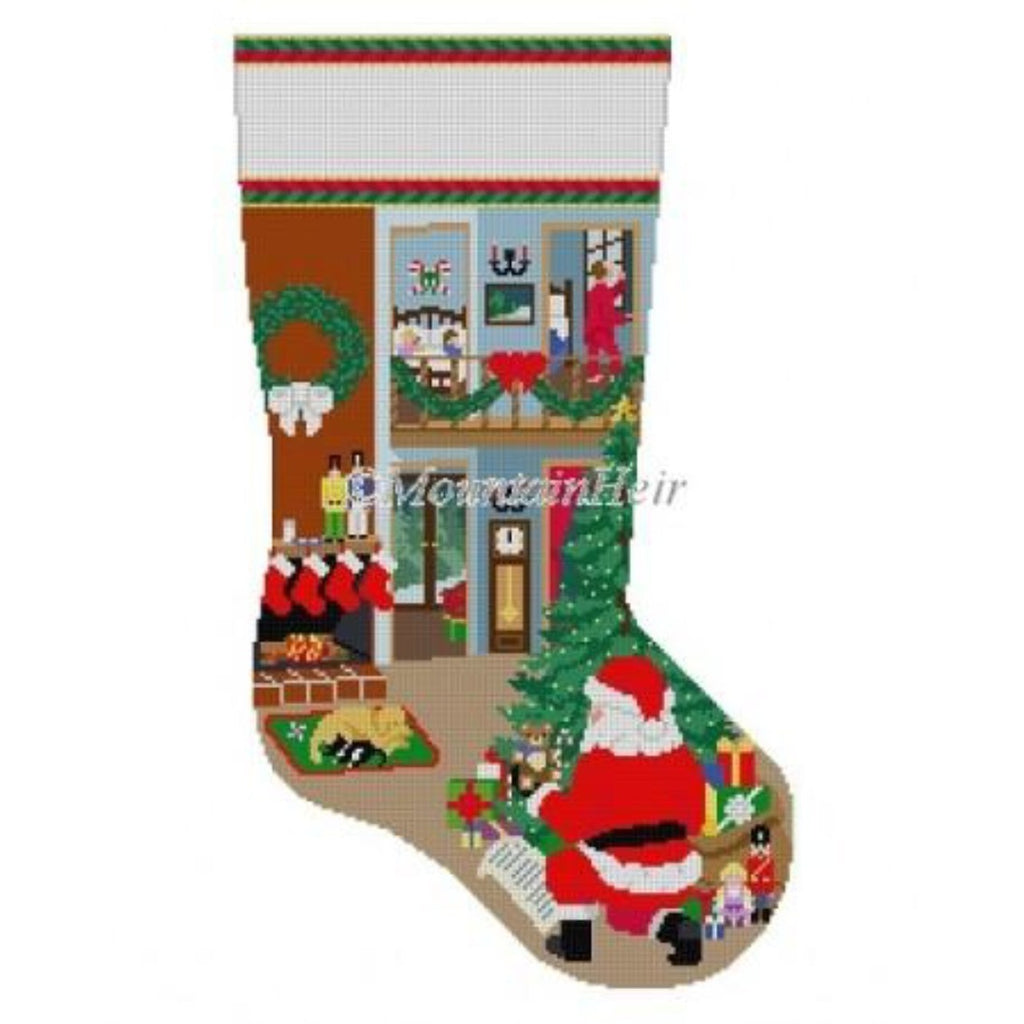 Night Before Christmas Stocking Canvas - needlepoint