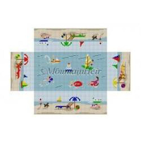 Day at the Beach Brick Cover - needlepoint