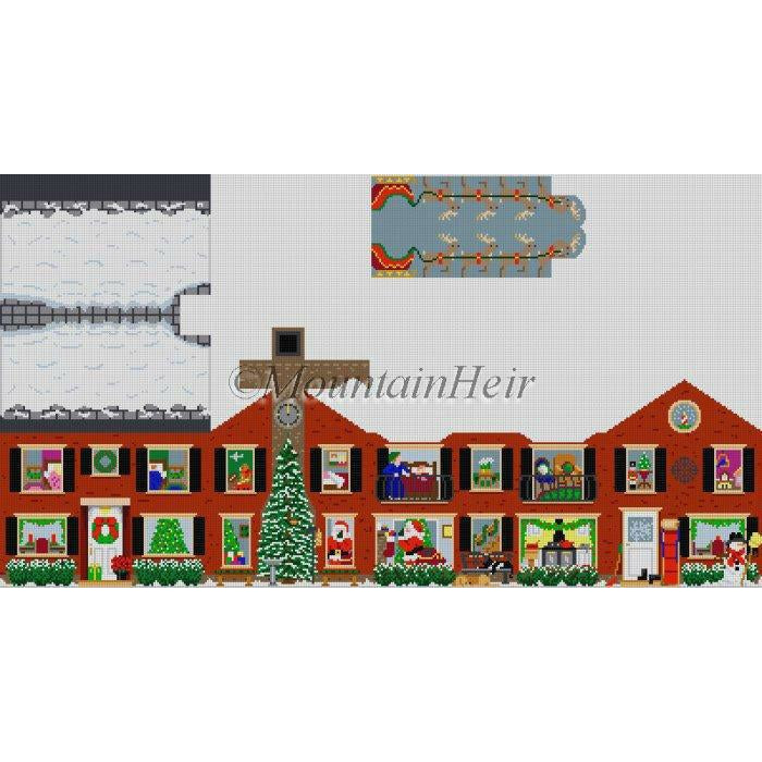 3D Christmas House Canvas-Susan Roberts-KC Needlepoint