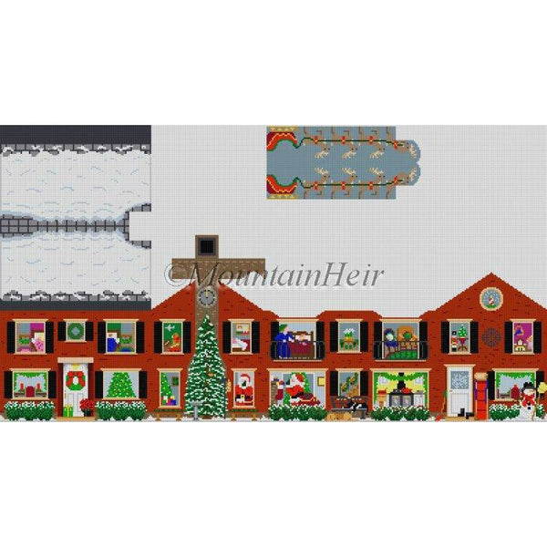 3D Christmas House Canvas - needlepoint