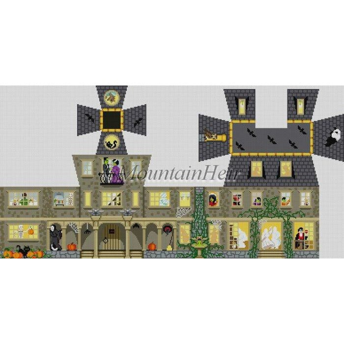 Halloween House 3D Canvas - needlepoint