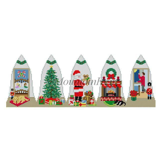 Night Before Christmas Bell Canvas