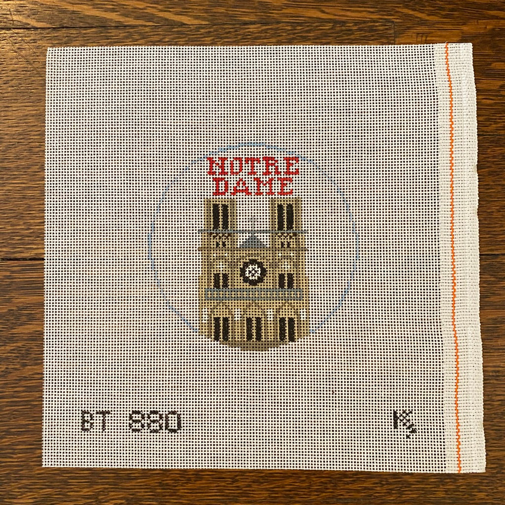 Notre Dame Cathedral Travel Round Canvas