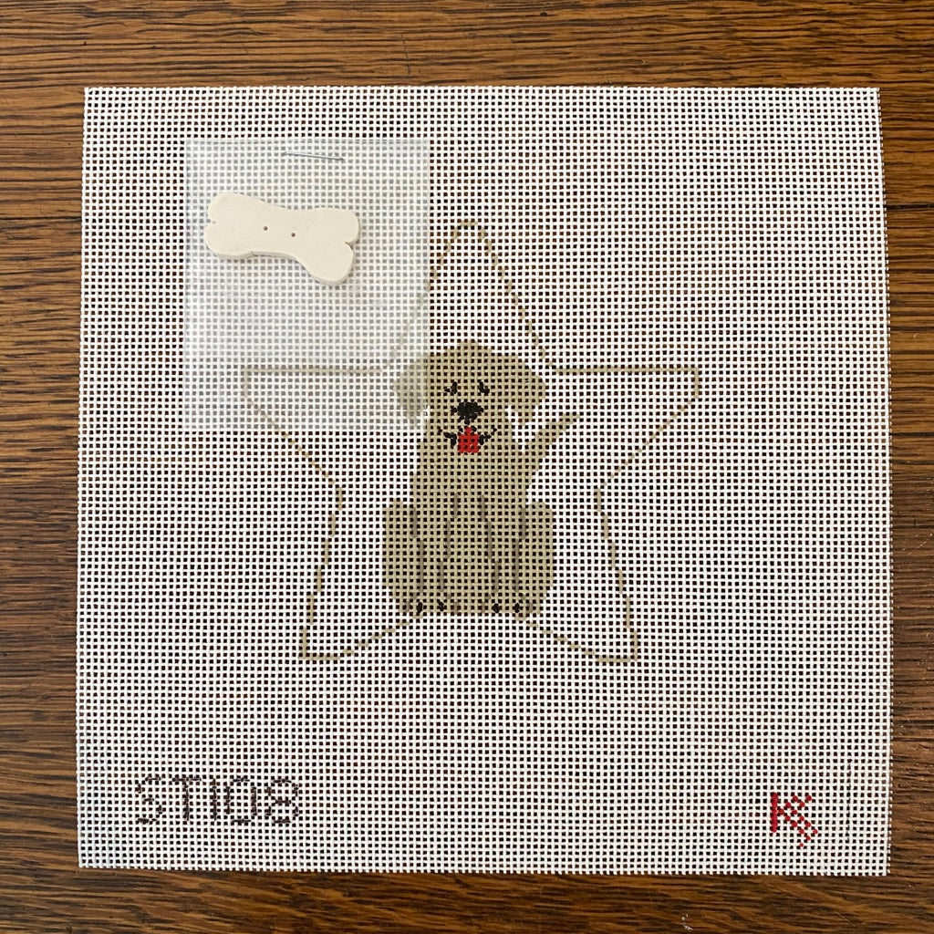 Yellow Lab Star Canvas - needlepoint