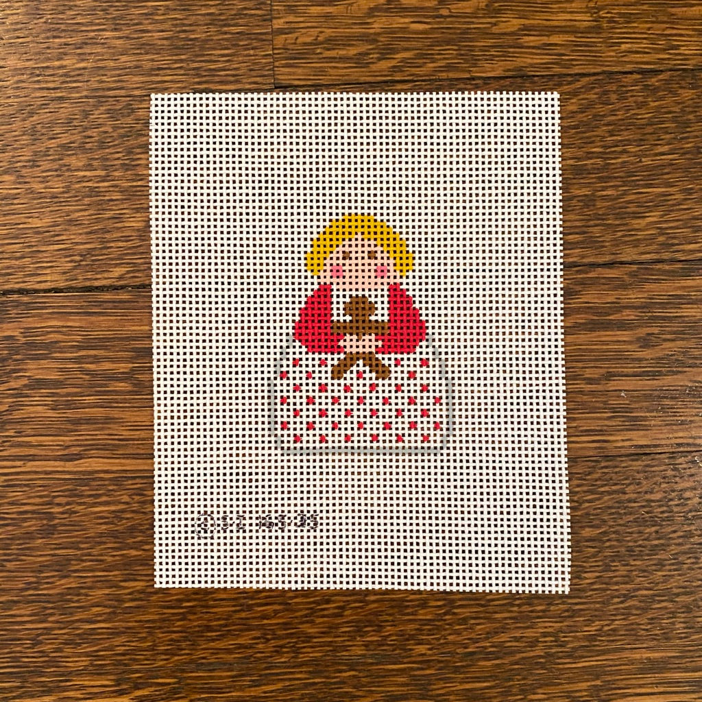 Angel with Gingerbread Man Canvas - needlepoint