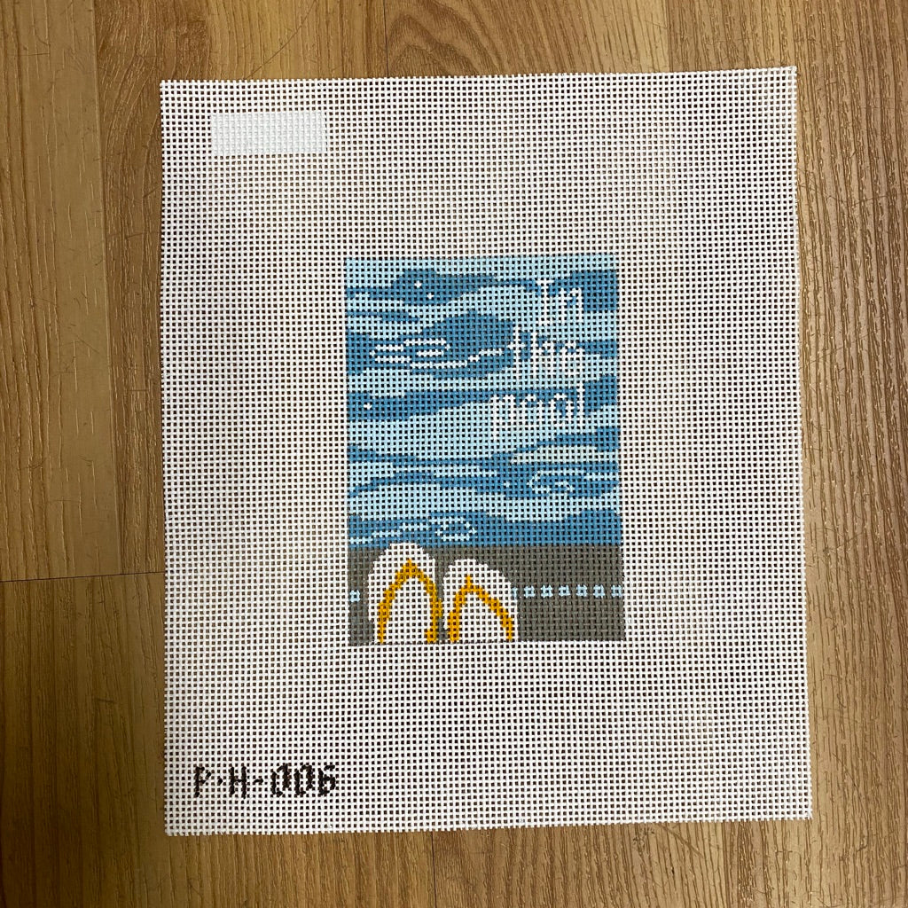 In The Pool Canvas - needlepoint