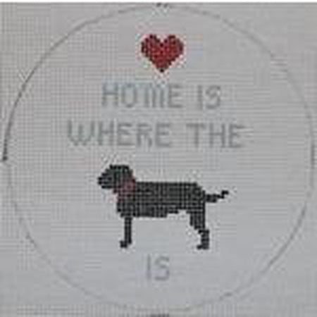 Home is Where the Dog Is Canvas - needlepoint