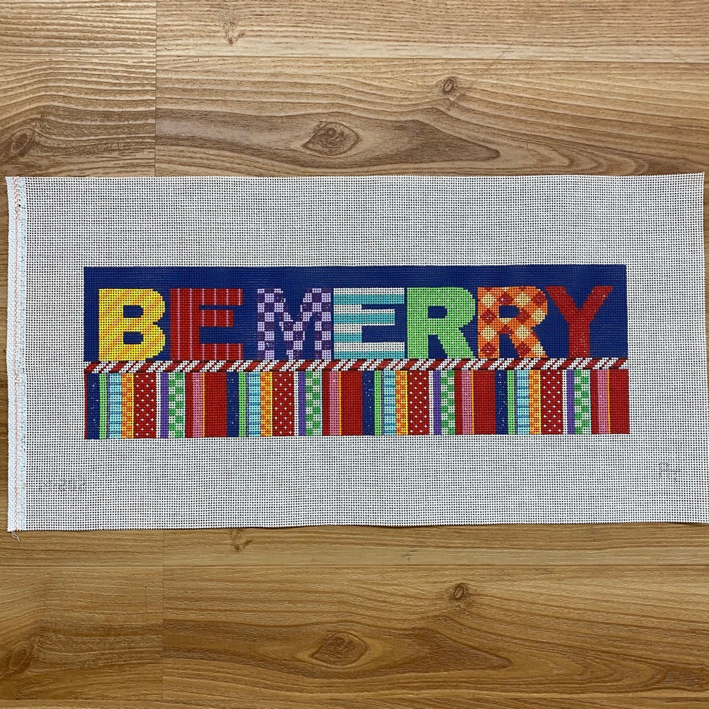 Be Merry Canvas - needlepoint