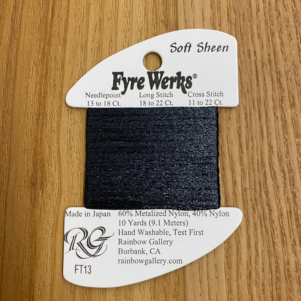 Fyre Werks Soft Sheen FT13 Charcoal - needlepoint