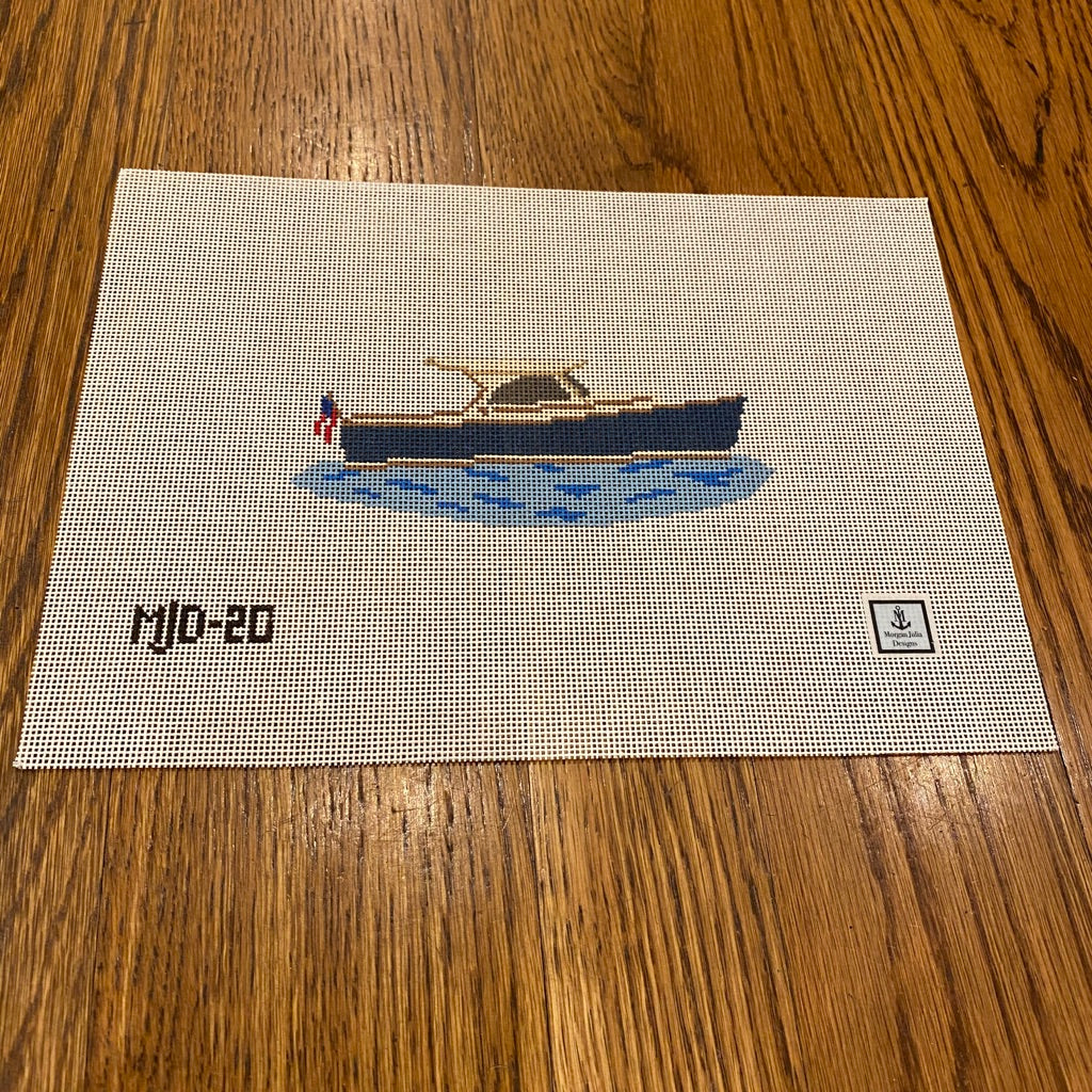 Picnic Boat Canvas - needlepoint