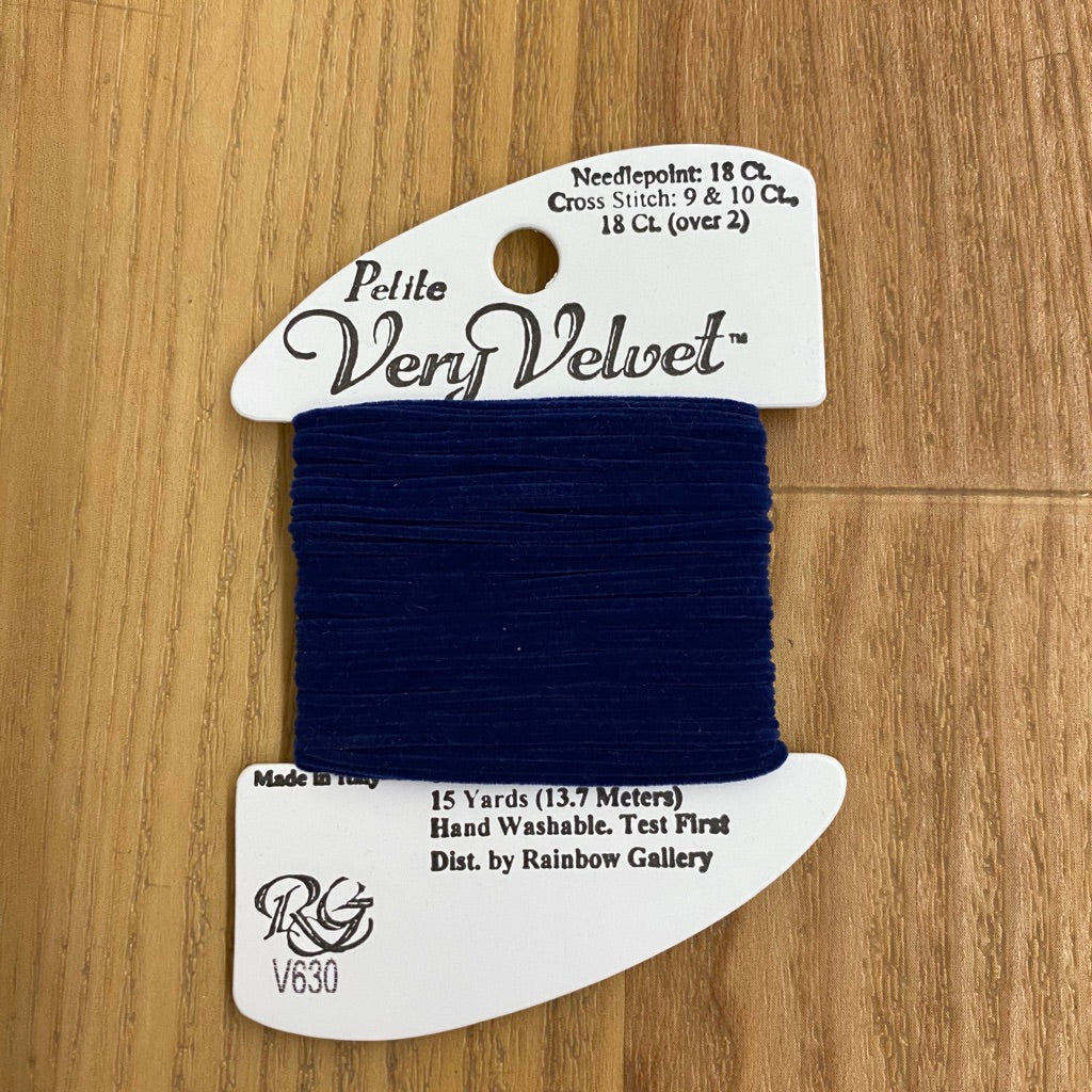 Petite Very Velvet V630 Navy - KC Needlepoint