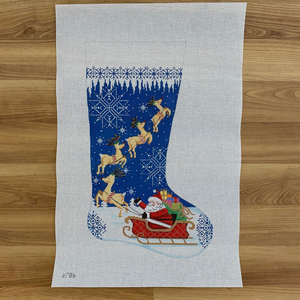 Merry Christmas to All Stocking Canvas - KC Needlepoint