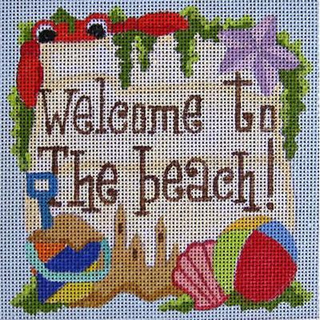 Welcome to the Beach Canvas-Needlepoint Canvas-Raymond Crawford-KC Needlepoint