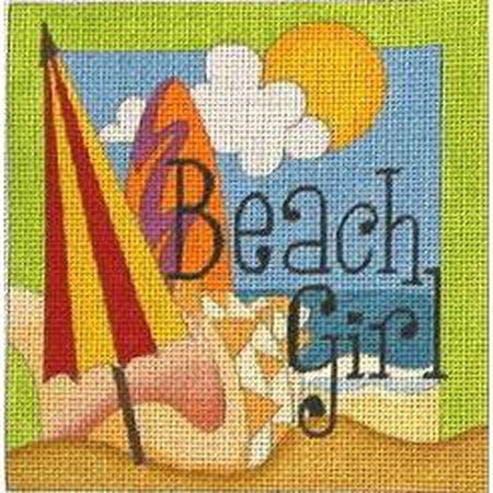 Beach Girl Canvas-Needlepoint Canvas-Raymond Crawford-KC Needlepoint