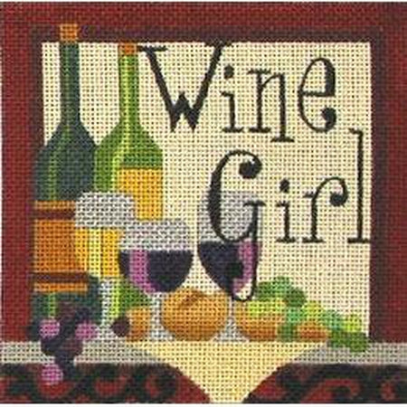Wine Girl Canvas-Needlepoint Canvas-Raymond Crawford-KC Needlepoint