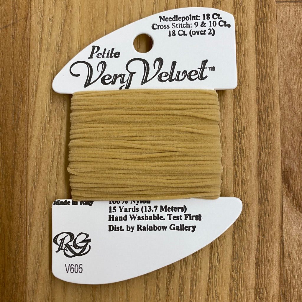Petite Very Velvet V605 Camel - KC Needlepoint