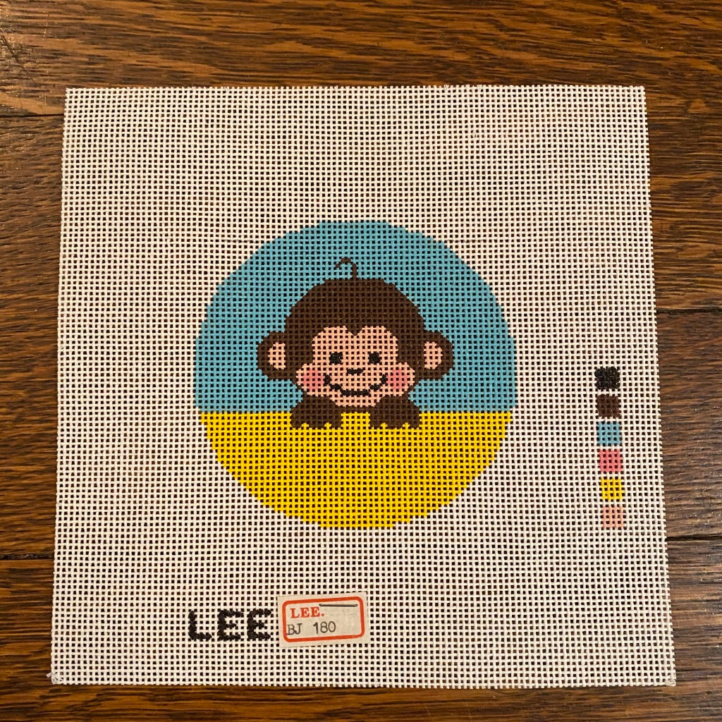 "Baby Monkey 3"" Round Canvas"