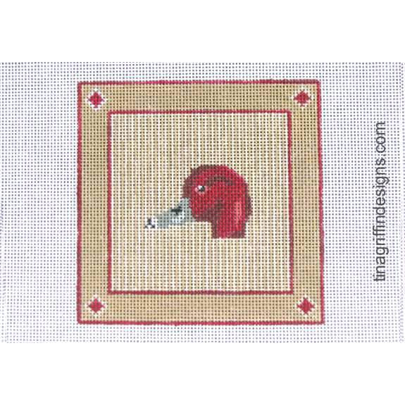 Readhead Duck Square Canvas-Needlepoint Canvas-Tina Griffin Designs-KC Needlepoint