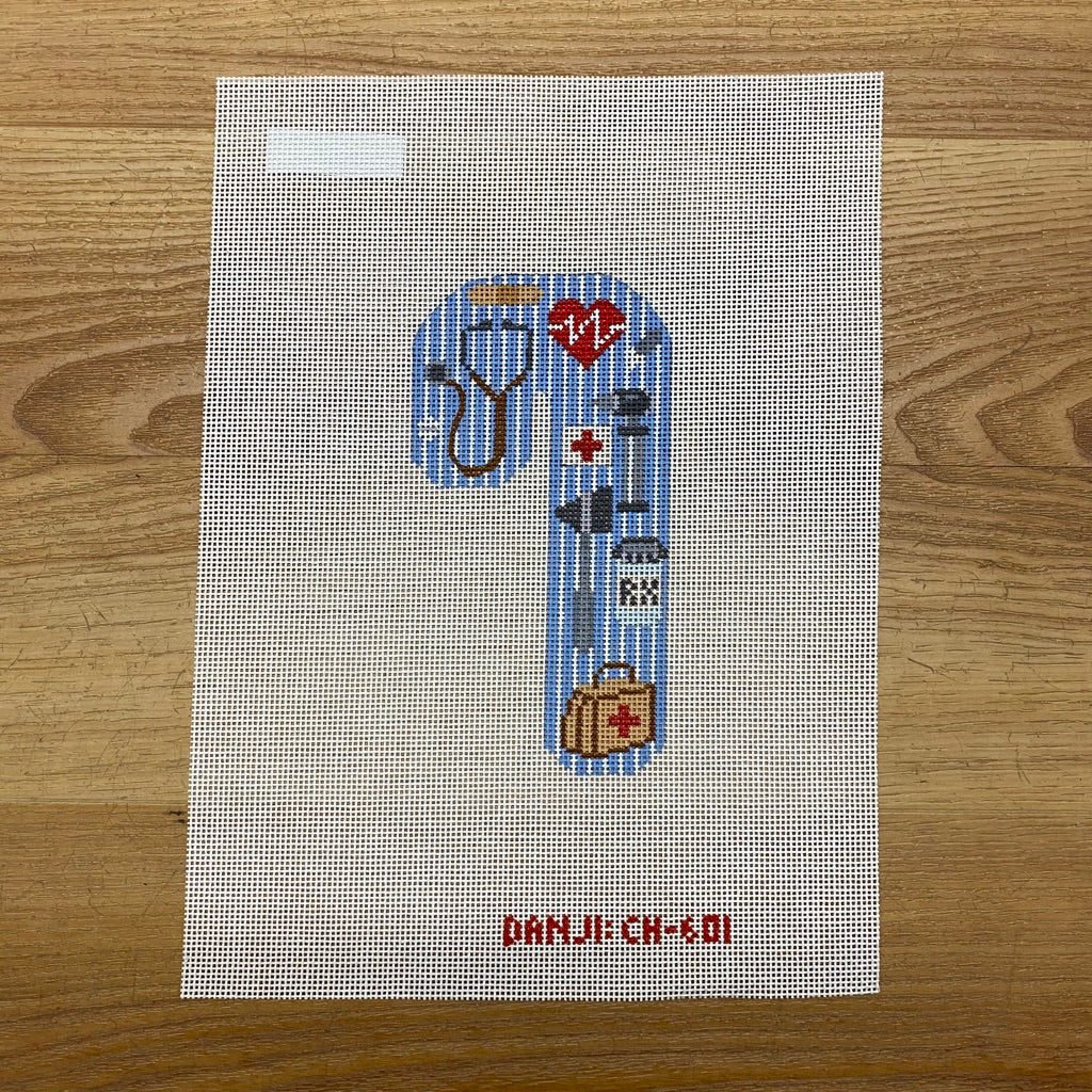 Doctor Candy Cane Canvas - needlepoint