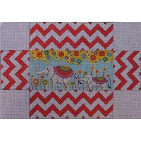 Elephant Brick Canvas-Needlepoint Canvas-Colors of Praise-KC Needlepoint